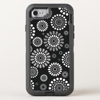 Capa Para iPhone 8/7 OtterBox Defender Capa Iphone Flores Negras da Primavera