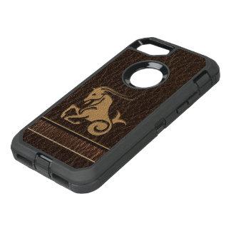 Capa Para iPhone 8/7 OtterBox Defender Capricórnio do Couro-Olhar