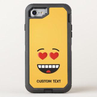 Capa Para iPhone 8/7 OtterBox Defender Cara de sorriso com olhos Coração-Dados forma