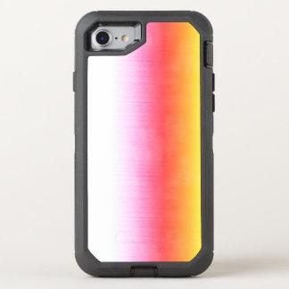 Capa Para iPhone 8/7 OtterBox Defender Céu cor-de-rosa da aguarela de Ombre do amarelo