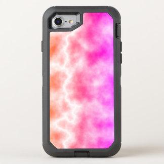 Capa Para iPhone 8/7 OtterBox Defender Céu cor-de-rosa da tempestade do trovão