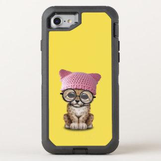 Capa Para iPhone 8/7 OtterBox Defender Chita bonito Cub que veste o chapéu do bichano