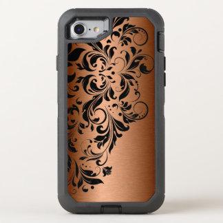 Capa Para iPhone 8/7 OtterBox Defender Cobre metálico & laço preto