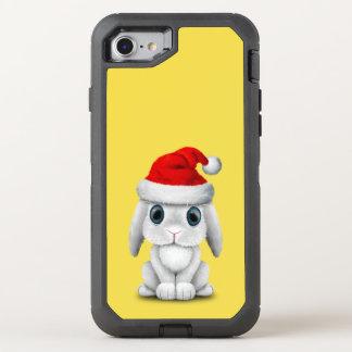 Capa Para iPhone 8/7 OtterBox Defender Coelho branco do bebê que veste um chapéu do papai