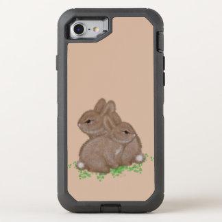 Capa Para iPhone 8/7 OtterBox Defender Coelhos adoráveis no trevo