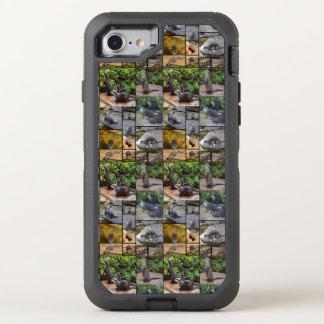 Capa Para iPhone 8/7 OtterBox Defender Colagem da foto da lontra, caso do defensor do
