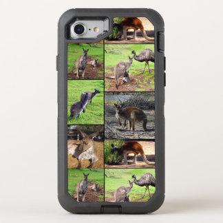 Capa Para iPhone 8/7 OtterBox Defender Colagem da foto do canguru,