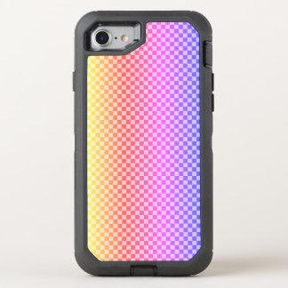 Capa Para iPhone 8/7 OtterBox Defender Colorido brilhante Checkered da verificação do