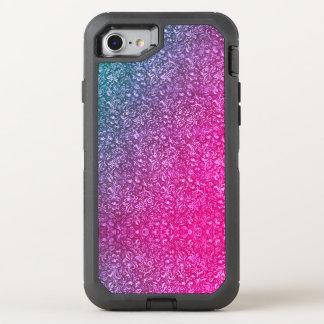 Capa Para iPhone 8/7 OtterBox Defender Colorido brilhante floral azul silenciado