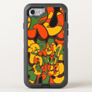 Capa Para iPhone 8/7 OtterBox Defender cor da reggae do cilindro e do baixo - logotipo,