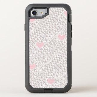 Capa Para iPhone 8/7 OtterBox Defender Coração do amor da pérola
