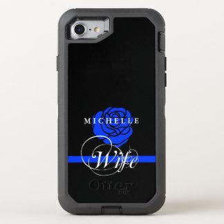 Capa Para iPhone 8/7 OtterBox Defender Costume da esposa da polícia do rosa do azul
