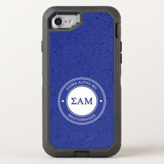 Capa Para iPhone 8/7 OtterBox Defender Crachá da MU | do alfa do Sigma