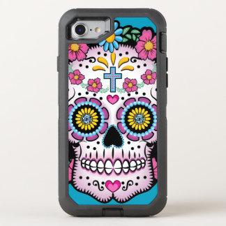 Capa Para iPhone 8/7 OtterBox Defender Crânio de Diâmetro de los Muertos Açúcar