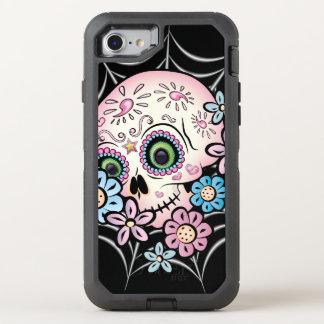 Capa Para iPhone 8/7 OtterBox Defender Crânio doce do açúcar