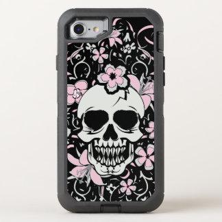 Capa Para iPhone 8/7 OtterBox Defender Crânio feminino do vintage