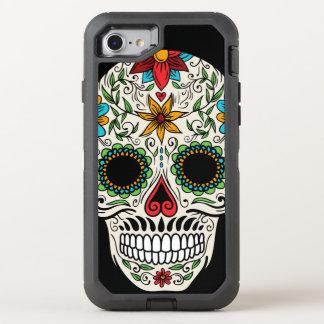 Capa Para iPhone 8/7 OtterBox Defender Crânio inoperante do açúcar do dia