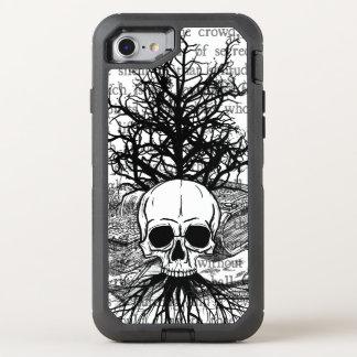 Capa Para iPhone 8/7 OtterBox Defender +{Crânio & livros}+