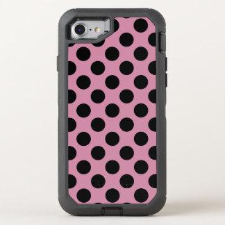 Capa Para iPhone 8/7 OtterBox Defender Criar seu próprio teste padrão de bolinhas preto