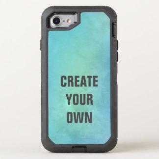 Capa Para iPhone 8/7 OtterBox Defender Criar sua própria pintura da aguarela de turquesa