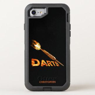 Capa Para iPhone 8/7 OtterBox Defender Dardos com o dardo dourado nas chamas com texto à