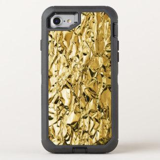 Capa Para iPhone 8/7 OtterBox Defender Design abstrato chapeado crinkly da folha de lata