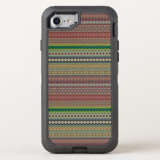Capa Para iPhone 8/7 OtterBox Defender Design abstrato listrado tribal do teste padrão