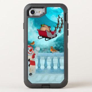 Capa Para iPhone 8/7 OtterBox Defender Design do Natal, Papai Noel