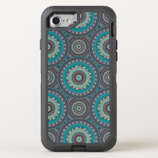 Capa Para iPhone 8/7 OtterBox Defender Design do teste padrão do abstrato da mandala de