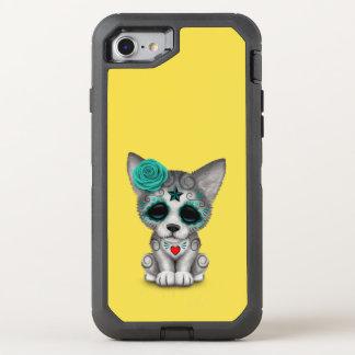 Capa Para iPhone 8/7 OtterBox Defender Dia azul do lobo Cub inoperante