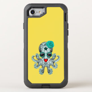 Capa Para iPhone 8/7 OtterBox Defender Dia azul do polvo inoperante do bebê
