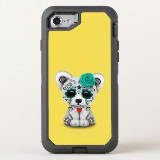 Capa Para iPhone 8/7 OtterBox Defender Dia azul do urso polar do bebê inoperante