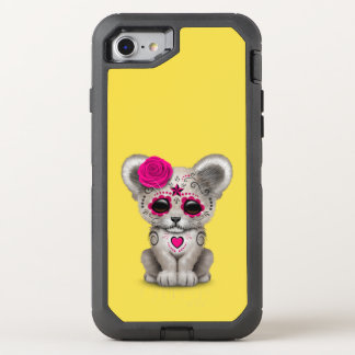 Capa Para iPhone 8/7 OtterBox Defender Dia cor-de-rosa do leão Cub inoperante
