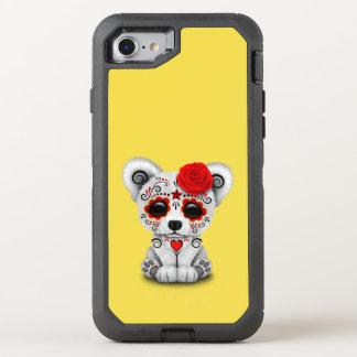 Capa Para iPhone 8/7 OtterBox Defender Dia vermelho do urso polar do bebê inoperante