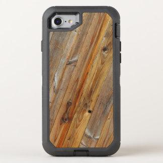 Capa Para iPhone 8/7 OtterBox Defender Diagonal de madeira da prancha