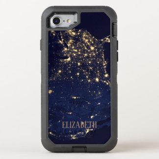 Capa Para iPhone 8/7 OtterBox Defender Do estilo bonito da forma dos começos azul rico