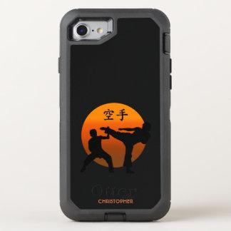Capa Para iPhone 8/7 OtterBox Defender Dois lutadores do karaté com ascensão Sun