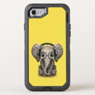 Capa Para iPhone 8/7 OtterBox Defender Elefante bonito DJ do bebê que veste fones de