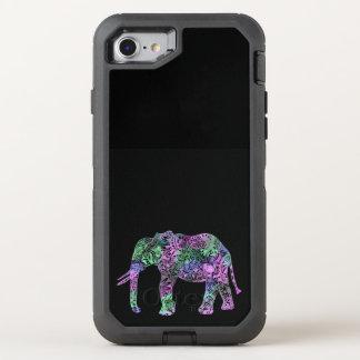 Capa Para iPhone 8/7 OtterBox Defender elefante de néon floral tribal colorido