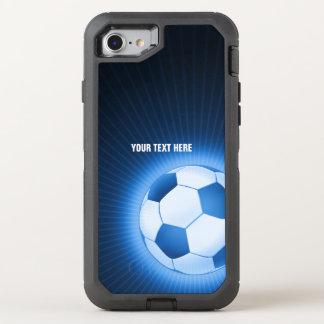 Capa Para iPhone 8/7 OtterBox Defender Esporte de incandescência azul do futebol do