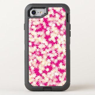 Capa Para iPhone 8/7 OtterBox Defender Estrelas cor-de-rosa de néon do amarelo do creme
