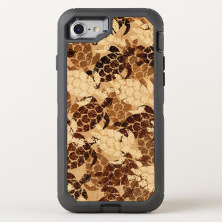 Capa Para iPhone 8/7 OtterBox Defender Falso do Hawaiian da tartaruga de mar de Honu