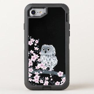 Capa Para iPhone 8/7 OtterBox Defender Feminino animal bonito da coruja das flores de