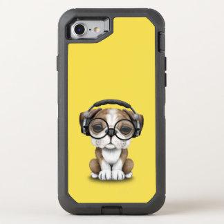 Capa Para iPhone 8/7 OtterBox Defender Filhote de cachorro bonito DJ do buldogue que