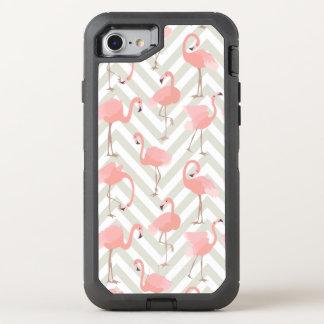 Capa Para iPhone 8/7 OtterBox Defender Flamingos e teste padrão cor-de-rosa das vigas
