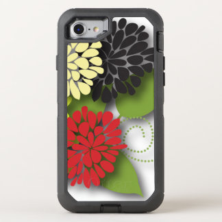 Capa Para iPhone 8/7 OtterBox Defender Flores abstratas femininos bonitos
