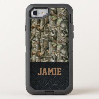 Capa Para iPhone 8/7 OtterBox Defender Floresta Camo e caixa da placa do carvão