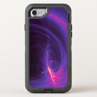 Capa Para iPhone 8/7 OtterBox Defender Fractal abstrato no roxo e no rosa