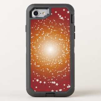 Capa Para iPhone 8/7 OtterBox Defender Galáxia alaranjada