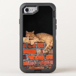Capa Para iPhone 8/7 OtterBox Defender Gato na parede de tijolo